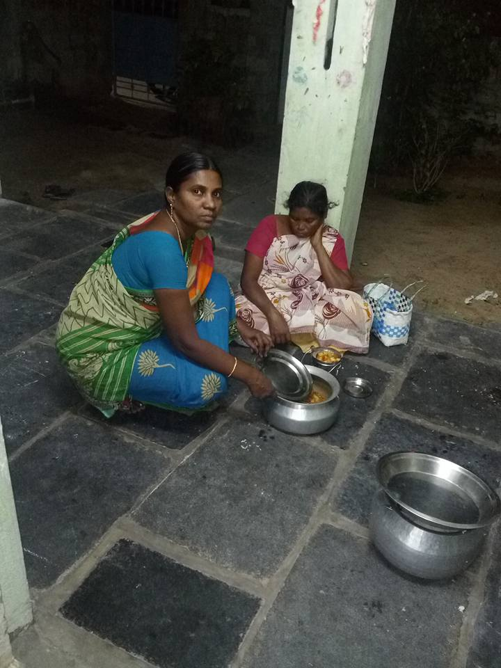 Feeding those in need in Bapatla India