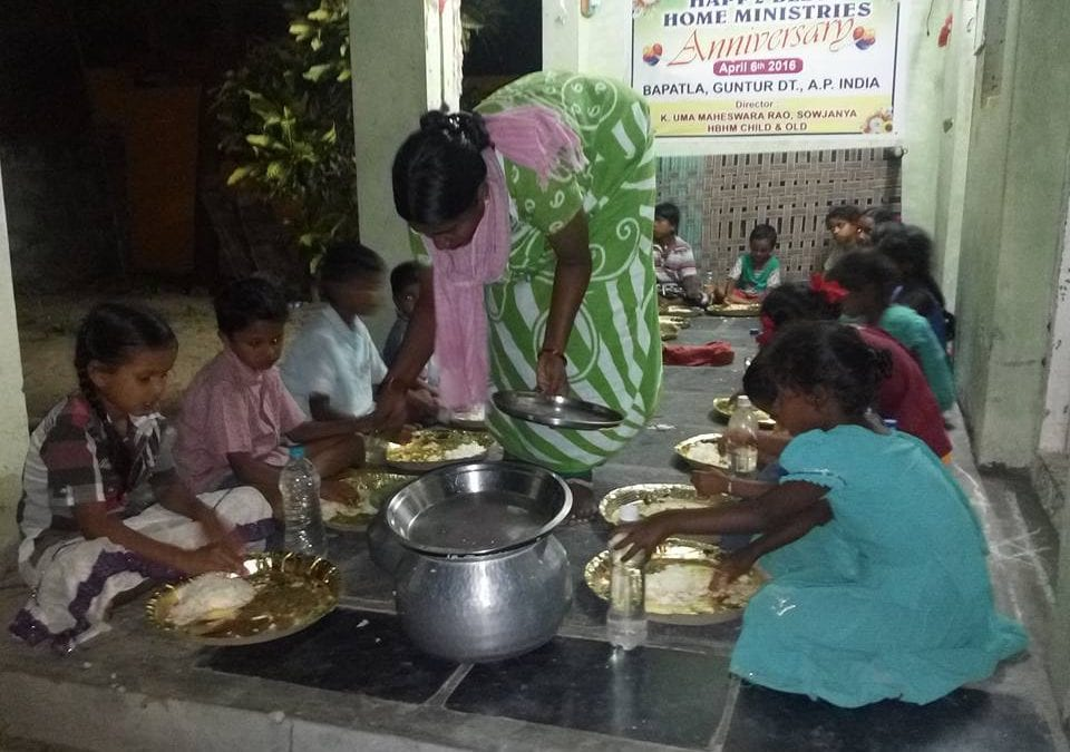 Yatham is feeding Children in Bapatla India
